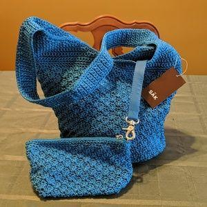 NWT The Sak turquoise hangbag with accessory